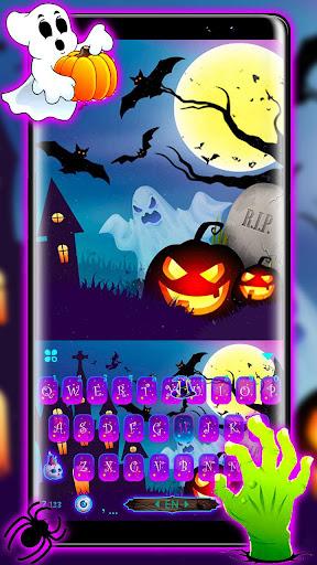 Halloween Pumpkin Keyboard Theme screenshots 1