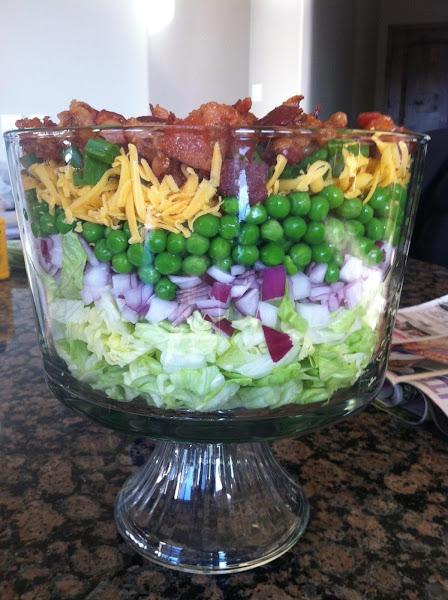 Granny's Eight Layer, Eight Hour Salad Recipe