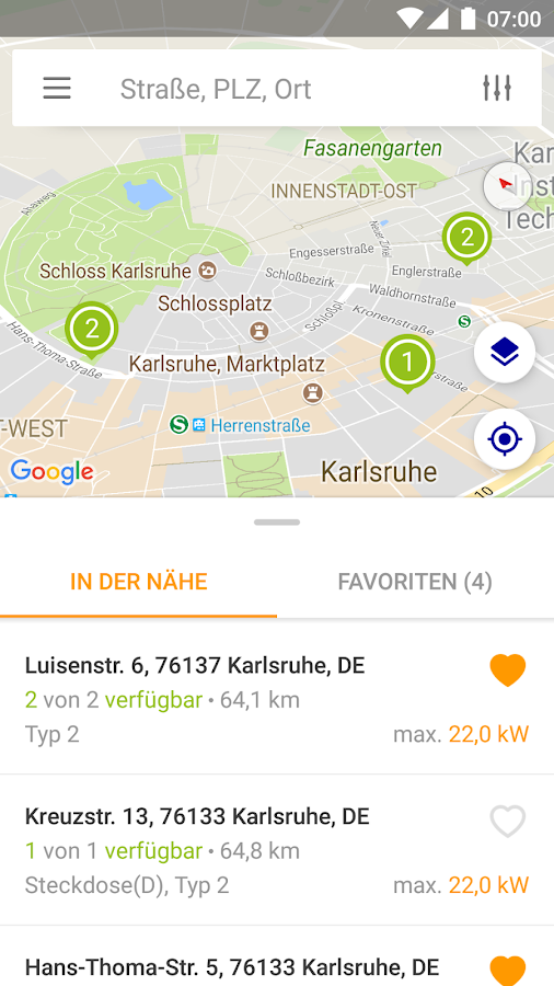 EnBW mobility+- screenshot
