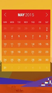 Calendar Widget: Month Screenshot