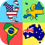Flags of the World Continents - New Geography Quiz Icon