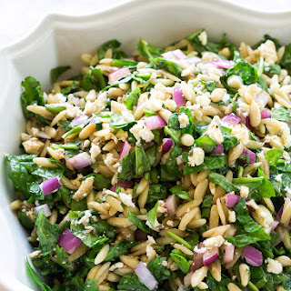 Spinach, Feta, and Orzo Salad.