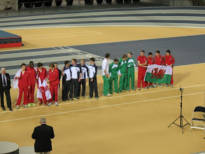 Photo: Junior Boys Teams at End of Competition - L to R: England (1st), Scotland (2nd), Irelan (4th) & Wales (3rd)