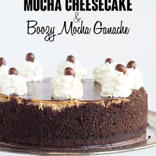 Mocha Cheesecake with a Boozy Mocha Ganche