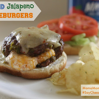 Stuffed Jalapeno Cheeseburgers #SayCheeseburger #Shop