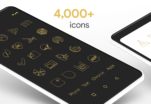 Screenshot for Lines Gold - Icon Pack (Pro Version) in United States Play Store