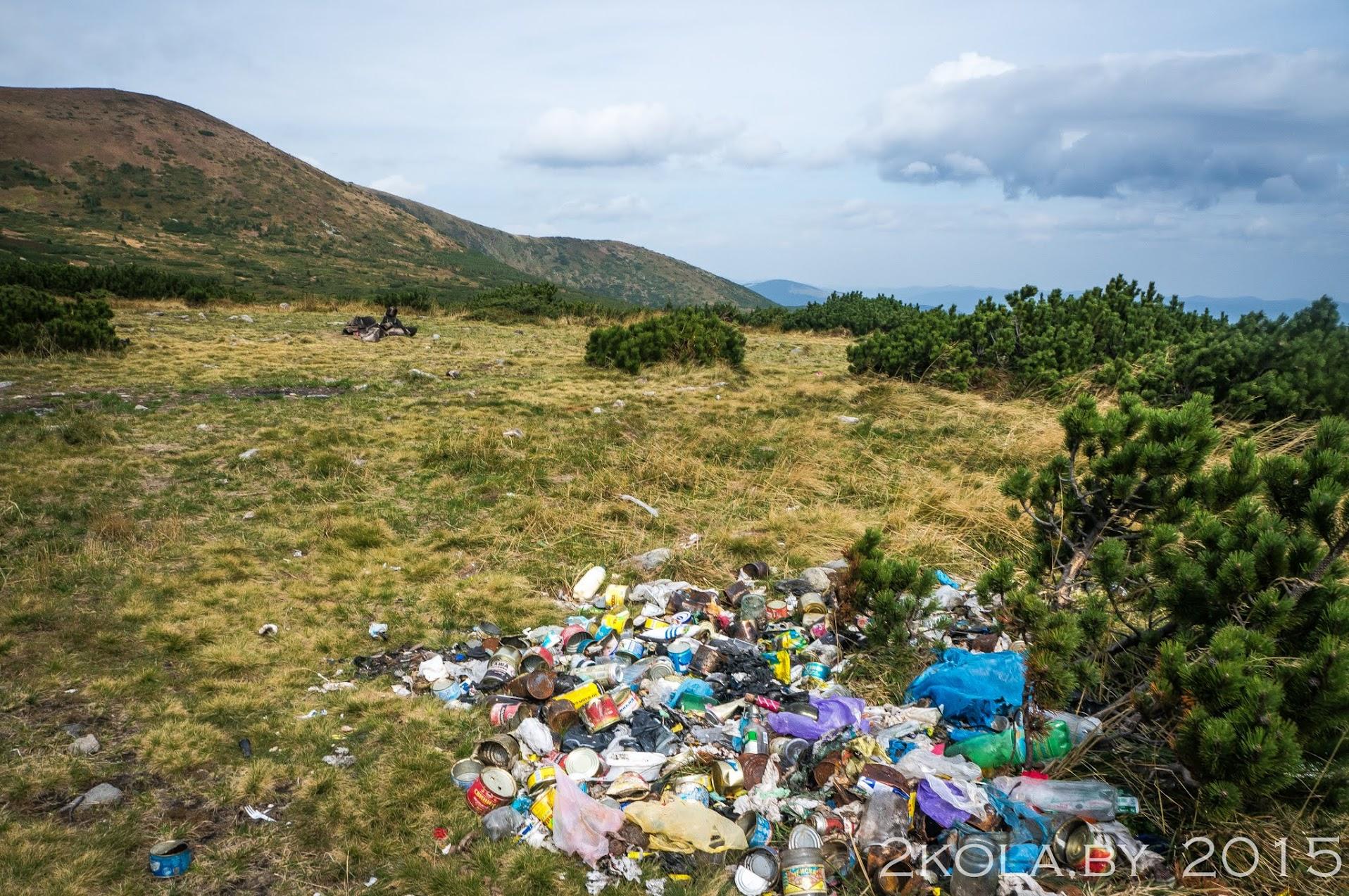 мусор возле оз. Несамовите