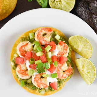 Shrimp Avocado Tostadas