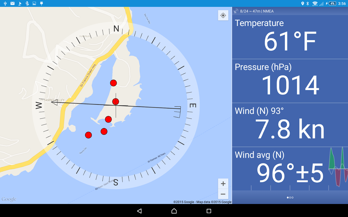 Nanny Cay Weather Station- screenshot
