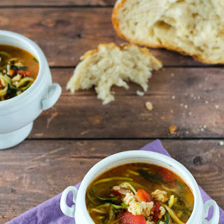 Turkey Soup with Zucchini Noodles
