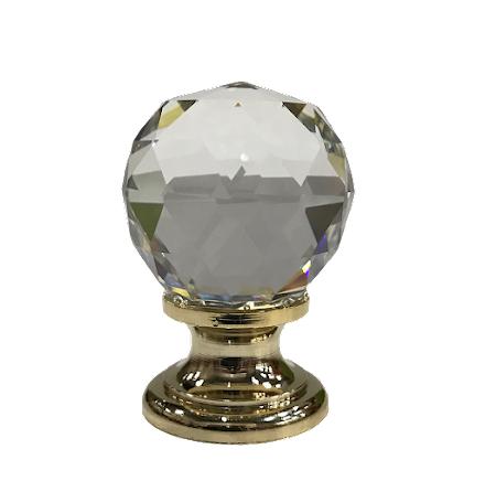 Kristallknopp - Diamant/Guld/Silver