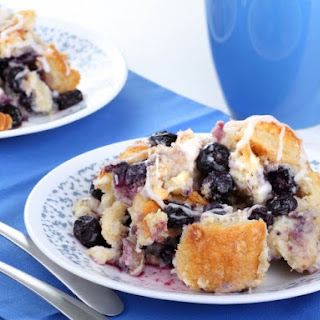 Slow Cooker Blueberry Bread Pudding.