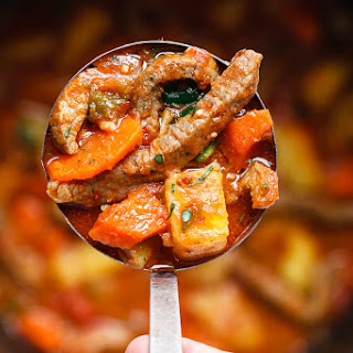 Instant Pot Carrot Potato Beef Stew.