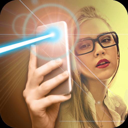 Real laser flashlight joke