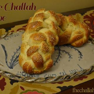 Basic Challah Recipe #1 - with honey