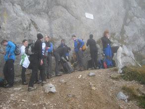 Photo: ...kurze Rast vor dem Einstieg zum Reißthaler Klettersteig...