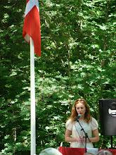 Photo: Rådmand Laura Hay holder grundlovstalen