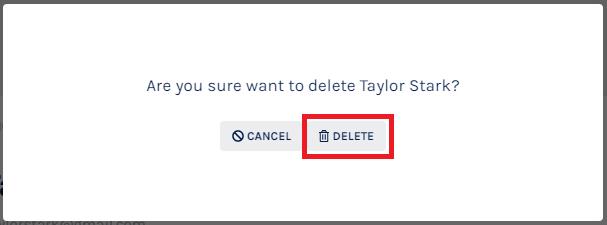 Delete Stakeholder