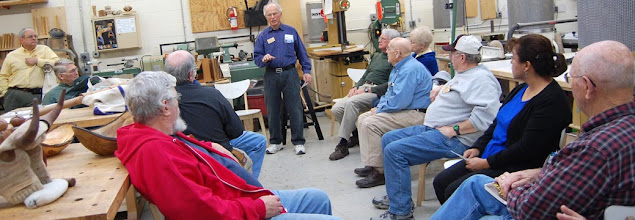 Photo: Phil Brown discusses several ways to force spalting in your stored wood.