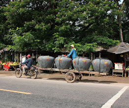 Photo: Year 2 Day 40 - Terracotta Water Storage Containers Being Delivered