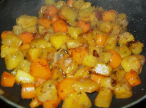Sauteed Pumpkin With Carrots & Onions Recipe