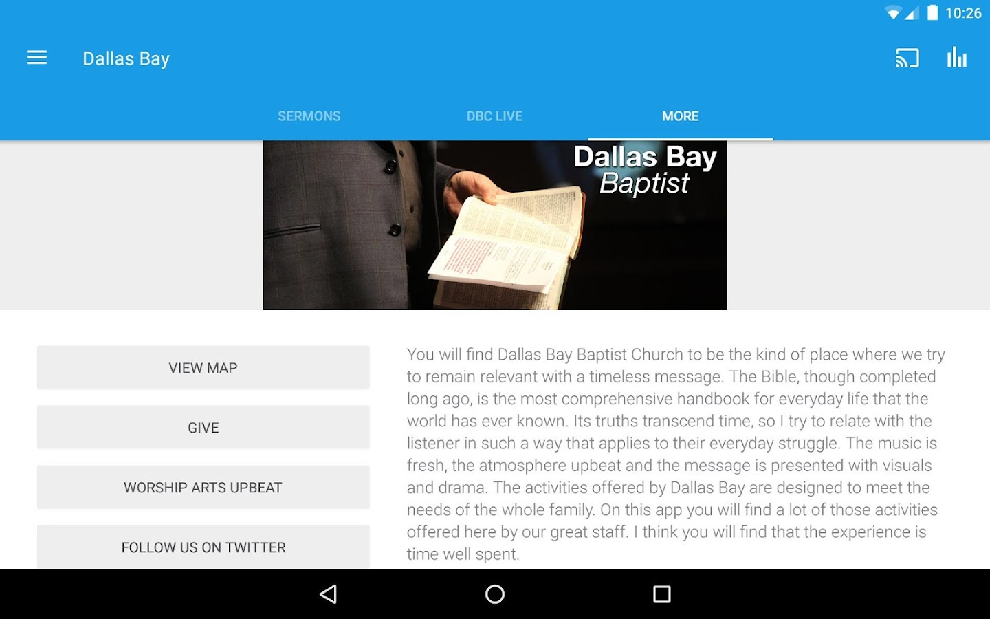 Dallas Bay Church- screenshot