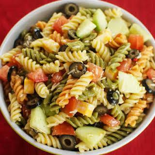 Easy Italian Pasta Salad.