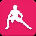 Stretching training icon