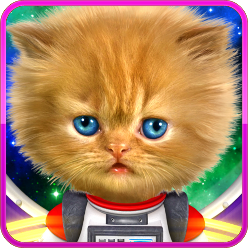 Talking baby cat in space Icon