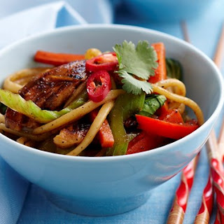 Honey Soy Chicken Noodles.
