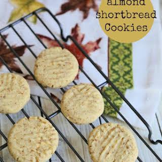 Sucanat Almond Shortbread Cookies.