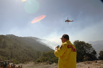Photo: Angeles National Forest, CA  Heavy helicopter works in background