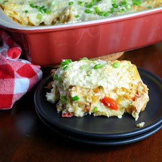 Green Chile Chicken Lasagna