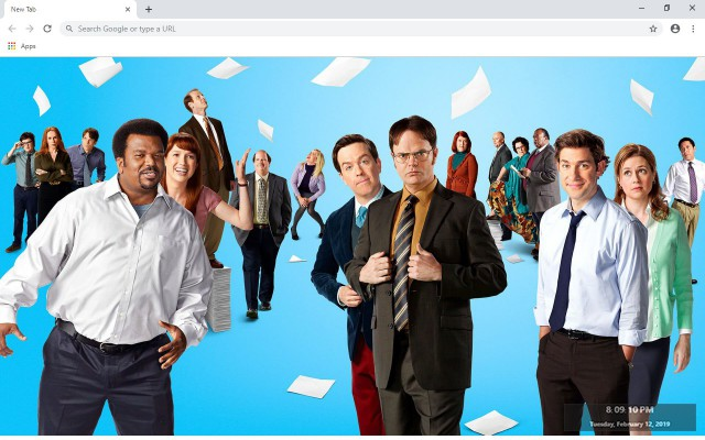 The Office New Tab & Wallpapers Collection