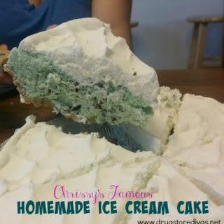 Chrissy's Famous Homemade Ice Cream Cake.