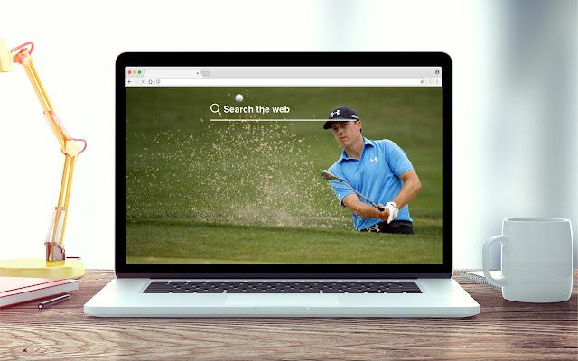 Jordan Spieth New Tab Golf Theme