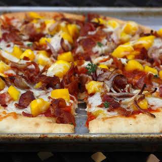 Barbecue Bacon Mango Pizza.