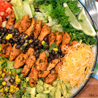 Loaded Mexican Salad with Cilantro Lime Dressing.