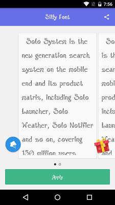 Solo Font Sillyfont - screenshot