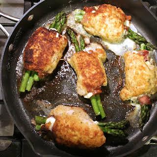 Prosciutto Asparagus Stuffed Chicken.