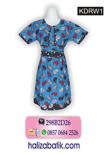 model baju batik dress, baju wanita terbaru, batik cantik