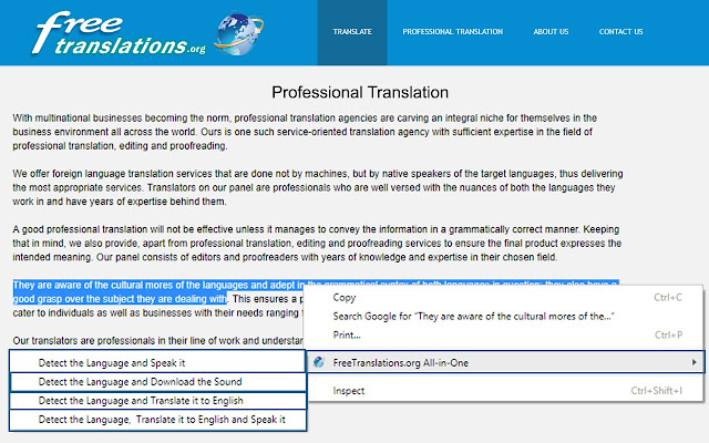 FreeTranslations org All-in-One