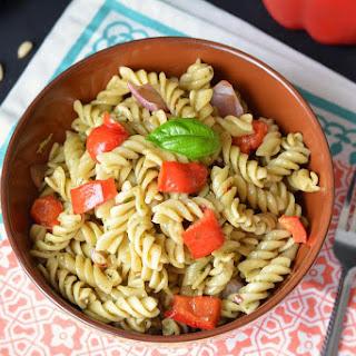 Basil Pesto Pasta.