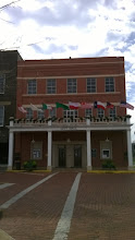 Photo: Nacogdoches City Hall with Sam Houston marker - site of his home
