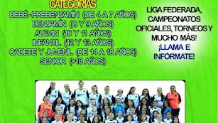 Cartel de la captación de jugadoras en el CD Federico García Lorca.