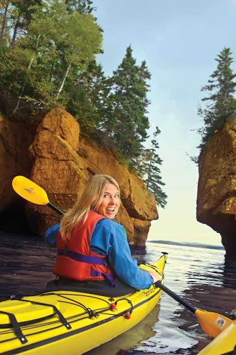 Explore the natural beauty of coastal New Brunswick by kayak.