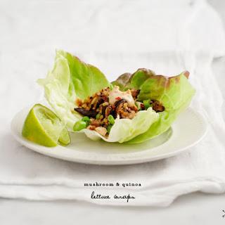 Mushroom & Quinoa Lettuce Wraps.