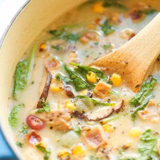Mushroom, Corn and Bacon Chowder Recipe