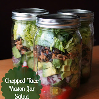 Chopped Taco Mason Jar Salad