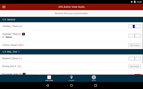 AFA Action Voter Guide- screenshot thumbnail